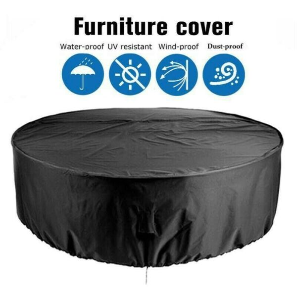 Large Round Waterproof Outdoor Yards Patio Table Chair Furniture Cover Rain Home $19.52