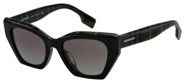 Burberry Sunglasses BE 4299F 382911 52 Black Grey Gradient Lens $99.99