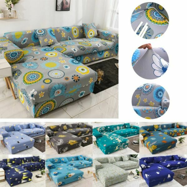 Stretch Slipcover Sectional Elastic Sofa Cover L shape Couch Protector Anti Dust $28.22