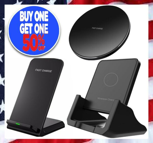 Qi Wireless Fast Charger Charging Stand Pad Dock for Samsung iPhone LG Android $7.97