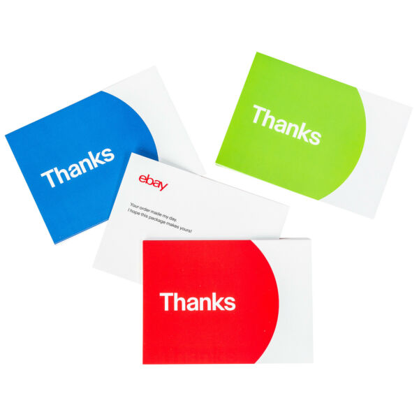Thank You Cards – Red Blue and Green $14.10