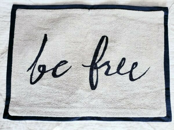 Pottery Barn BE FREE Pillow Cover 14quot; x 20quot; $19.50