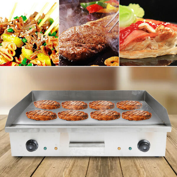 Electric Food Griddle Commercial Countertop Flat Grill BBQ Griller Equipment USA