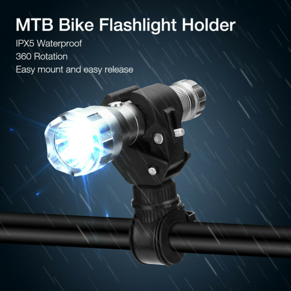 360 Rotation Bicycle Bike Mount Holder Clip Clamp for Led Flashlight Torch Lamp $5.99