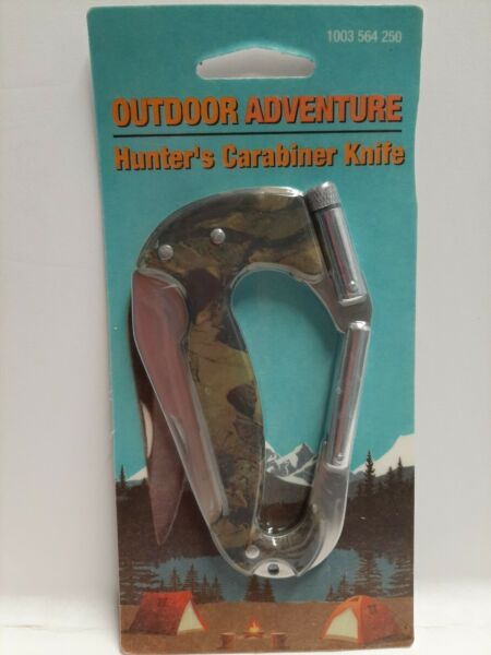 Outdoor Adventure Hunter's Carabiner Knife NEW not for climbing $3.48