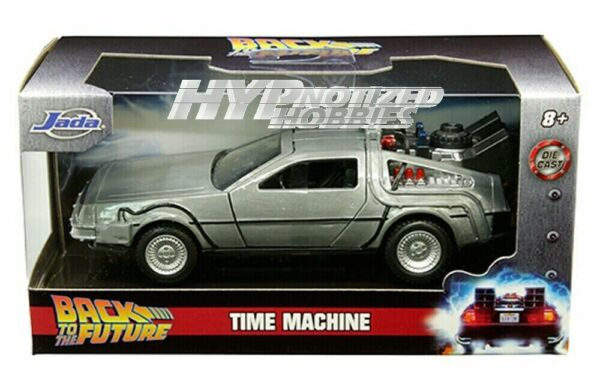 JADA BACK TO THE FUTURE PART I TIME MACHINE DIE CAST BRUSHED METAL CAR 1:32