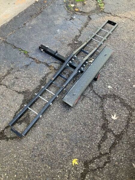 Motorcycle Hitch Receiver Mounted Dirt Bike Carrier Trailer Rack w Ramp $90.00