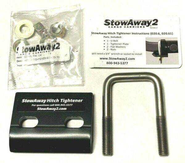 StowAway 2 Hitch Tightener for 2quot; Hitch. Kit to prevent hitch wobble $14.99