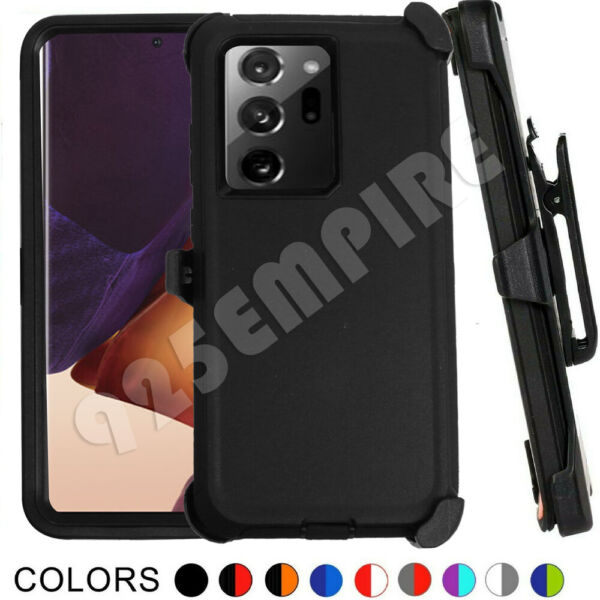 For Samsung Galaxy Note 20 Note 20 Ultra Defender Case with Clip Fits OtterBox