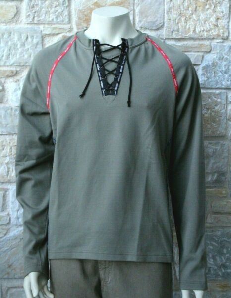 MOSCHINO Men#x27;s Cotton Green Long Sleeve T Shirt Size M Free Pamp;P New with Tags GBP 95.00