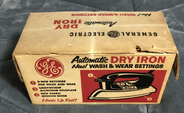 Antique Iron Vintage USA Made GE General Electric Dry Iron Model F54