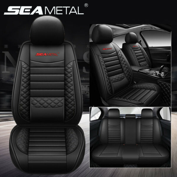 PU Leather 5 Seats SUV Front amp; Rear Car Seat Cover Cushion Full Set Universal US $99.99