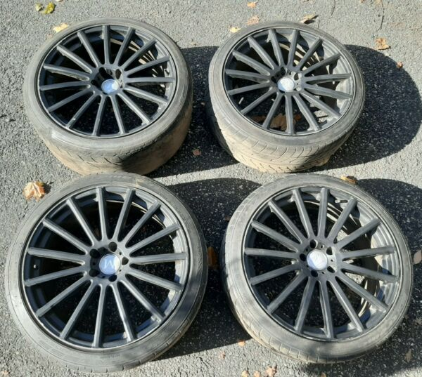 Used Mandrus Rotec Rim Set Front 20x8.5 Rear 20x10 5x112 Matte Black Wheels Rims $750.00