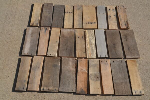 Craft Wood Reclaimed Weathered Rustic Pallet Boards Slats Assorted Projects $28.89