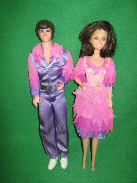 Vintage 1976 Donnie and Marie Osmond Dolls w Original Outfits Mattel