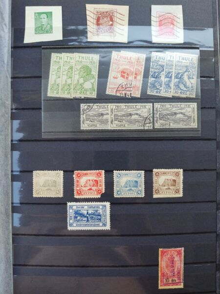 Norway Local Stamps 1888 Hammerfest 1935 Greenland Thule Arctic Revenue Stamps $28.79