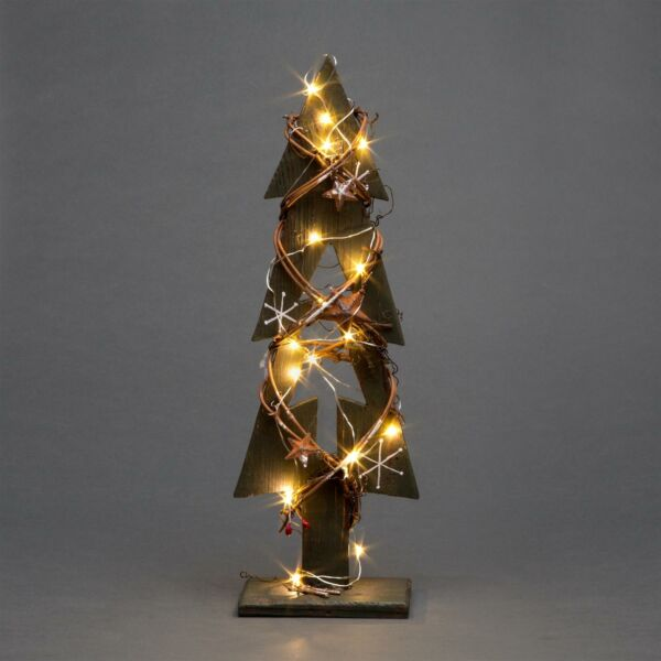 Green Wooden Tree LEDs Christmas Table Decorations Xmas Party Office Home Piece