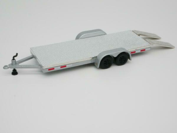 Car Truck Trailer 1 64 Scale Diecast Collectible Car Real Tires Gray $13.98