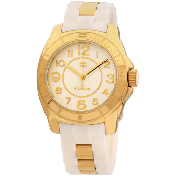 Tommy Hilfiger K2 Silver Dial Silicone Strap Ladies Watch 1781309 $30.65