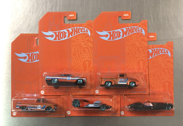 NEW HOT WHEELS 2020 BLUE amp; ORANGE SERIES SET OF 5 '62 CHEVY PICKUP '56 FORD $9.99