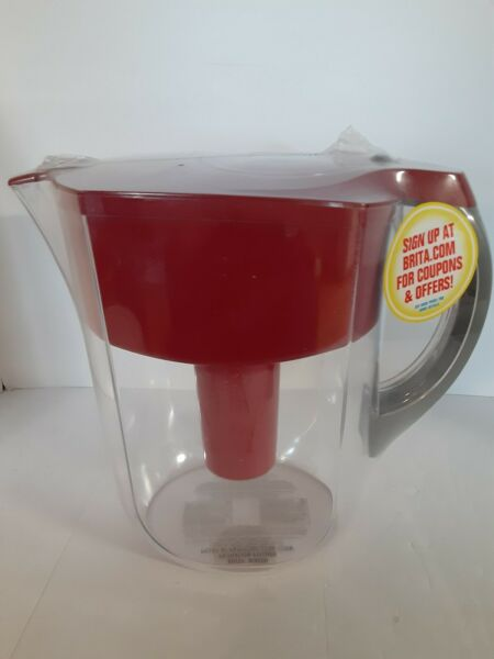 Brita 5 Cup Water Filter Pitcher Red