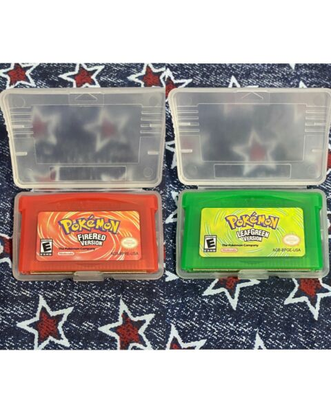2 for $30 Pokemon Leafgreen and Pokemon Firered GBA Compatible Reproduction $30.00