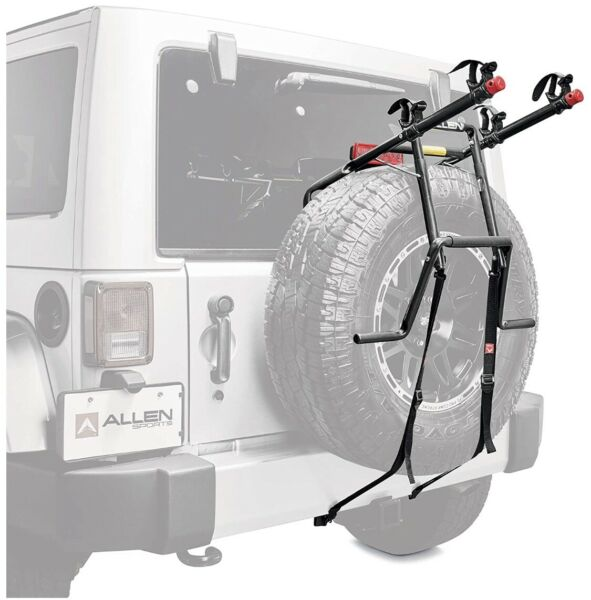 Allen Sports Deluxe 2 Bike Spare Tire Mounted Carrier 322DN $84.00