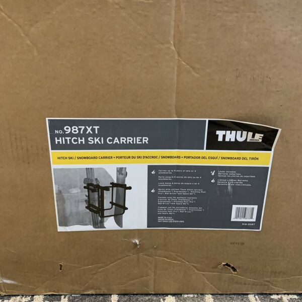 NEW OPEN BOX NO. 987XT Hitch Ski Carrier Thule Bike Snowboard Carrier Car Rack $225.00