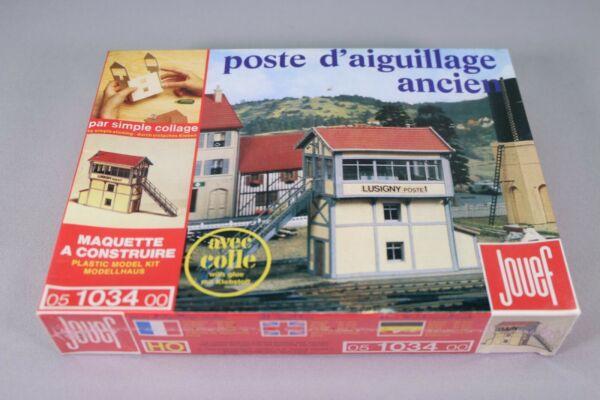 ZS145 Jouef Train Maquette decor Ho 1034 Poste aiguillage ancien Old signal box