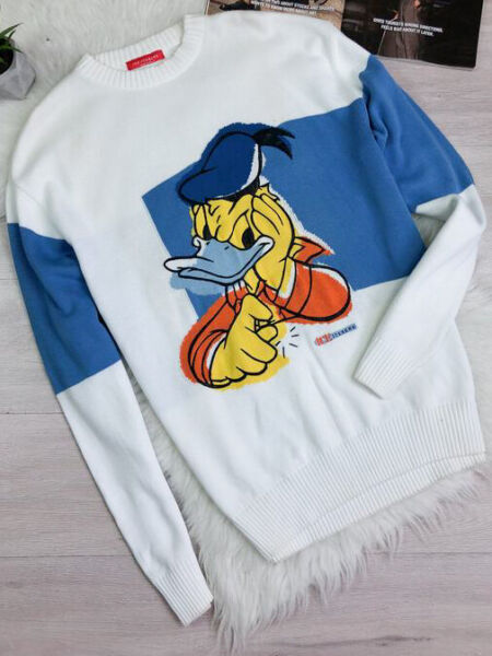 ICE ICEBERG vintage Donald Duck sweater L XL made in Italy $165.00