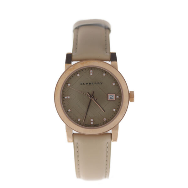 BURBERRY Watches BU9131 Stainless Steel leather Rose gold $668.00