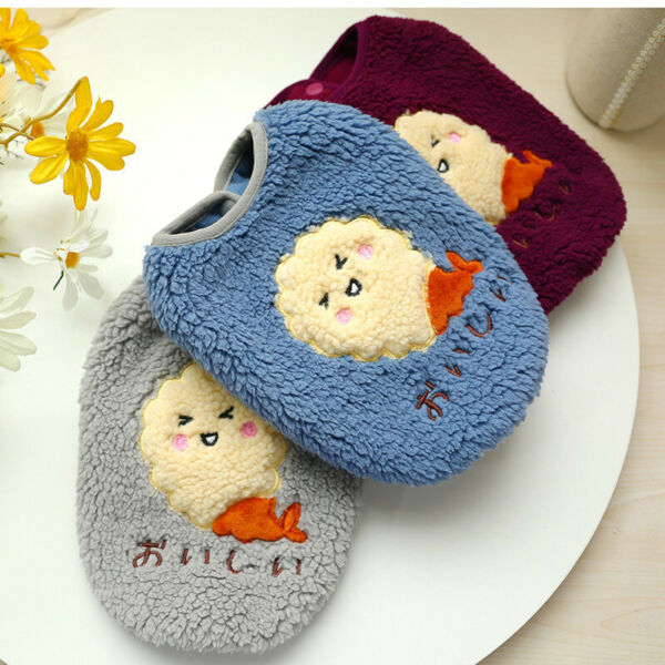 Puppies Dog Clothes Warm Fleece Vest Pet Cat Chihuahua Small Dog Clothing Winter $9.49