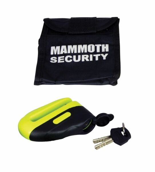 Mammoth Blast Disc Lock For Motorcycle Bike Weather Resistant 10mm Pin GBP 29.99