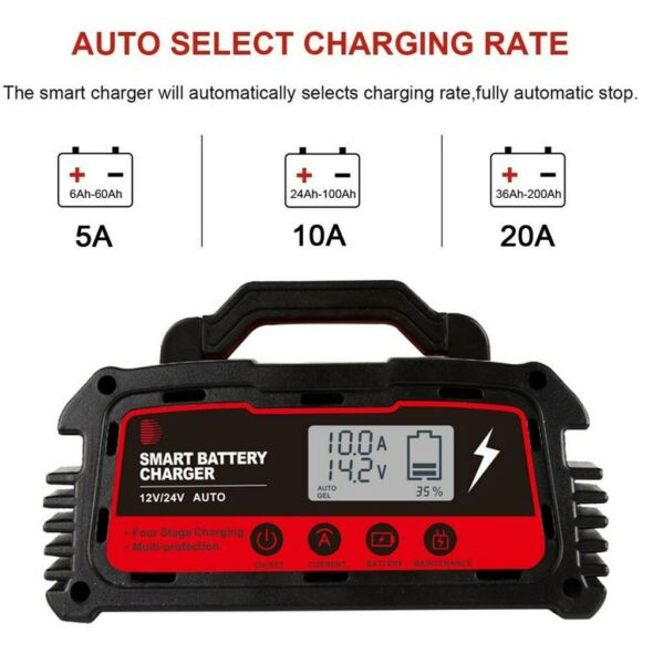 12V 24V Motorcycle Battery Charger Maintainer Pulse Repair AGM Wet Dry Lead GEL $78.16