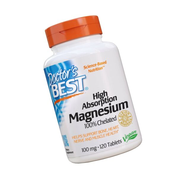 Doctor#x27;s Best High Absorption Magnesium Vegan 100% Chelated 120 Tablets $12.91