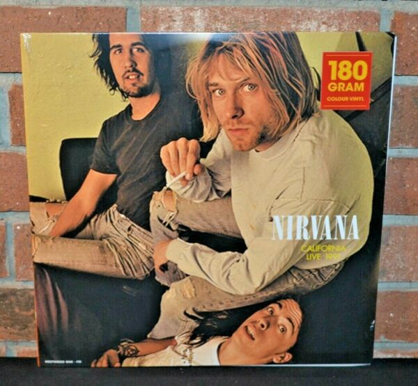 NIRVANA California Live 1991 Ltd Import 180G YELLOW COLOR VINYL LP NewSealed