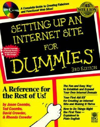 Setting Up an Internet Site for Dummies Paperback By Maran Ruth GOOD