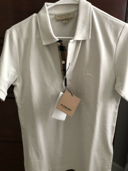 Genuine Burberry Men#x27;s Polo Shirt Size XS Color Light Stone New With Tag. $70.00