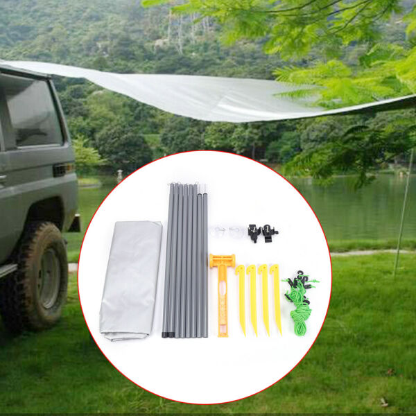 USA Car Side Tent Awning Rooftop SUV Truck Shelter Camping Sunshade Canopy Large $46.55