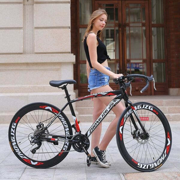Highway Commuters Aluminum Full Suspension Road Bike 21 Speed Disc Brakes 700c $173.82