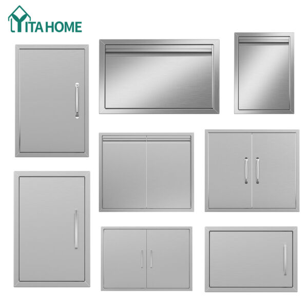 YITAHOME Stainless Steel BBQ Double Single Door Access Outdoor Kitchen Door