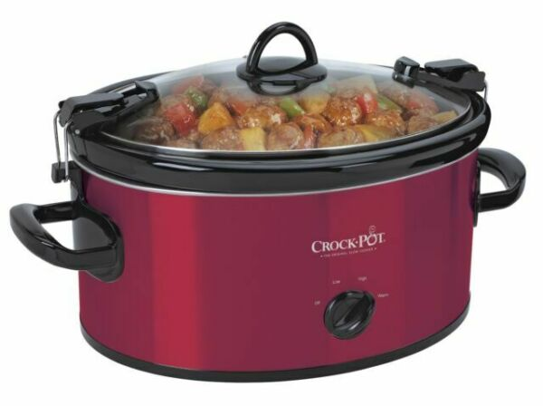 Crock Pot SCCPVL600 R 6 Quart Slow Cooker Red Stainless Steel NEW
