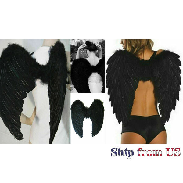 Angel Feather Large Wings Costume Cosplay Adult Fairy Dress Fashion Valentine#x27;s