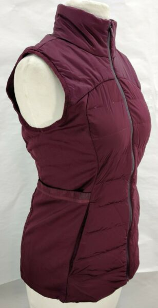 Lululemon Down For It All Vest Size 4 Burgundy Maroon Zip Up $56.00