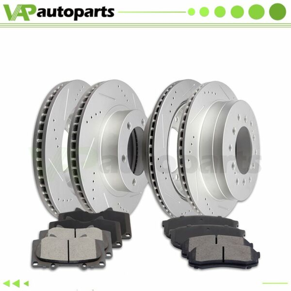 Ceramic Brake Pads And Rotors Front Rear For TOYOTA 4RUNNER 2003 2009 Drilled $202.13
