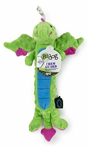 Go Dog Tough for Fun Dragon Squeaky Dog Toy w Chew Guard Technology $19.96