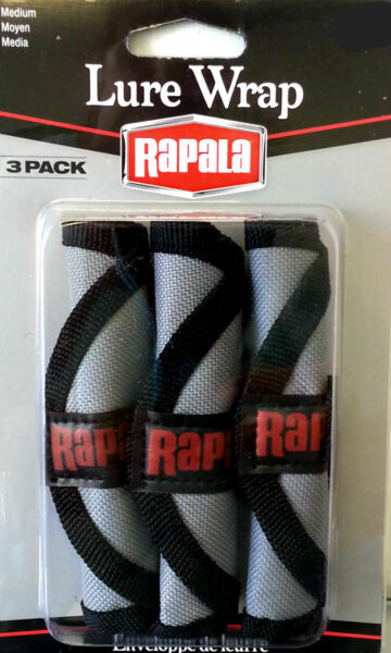 Rapala Lure Wrap Lure Protectors With Cover And Hook Guard 3 Pack $6.99