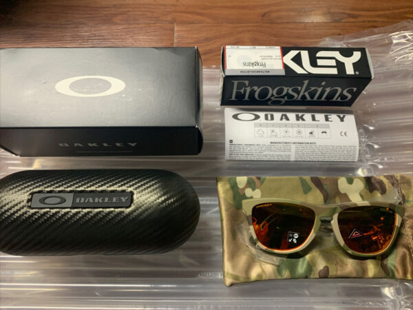 NEW OAKLEY FROGSKINS MULTICAM PRIZM RUBY LIMITED EDITION W Oakley Carbon Case $245.00