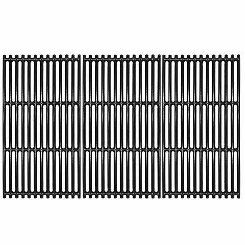 VICOOL 17quot; Grill Grates Porcelain Coated Cast Iron Cooking GridUpgrade for Ch...
