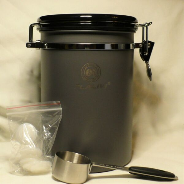 FLALIVI Airtight Stainless Steel Coffee Storage Container with S.S. Scoop
